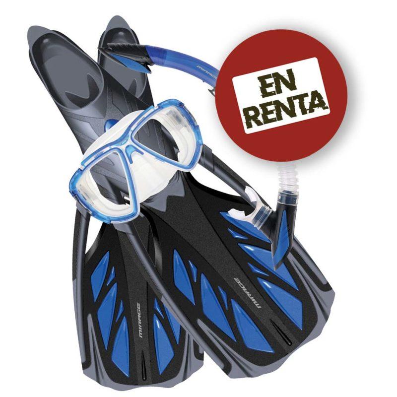 Alquiler de equipo de snorkel