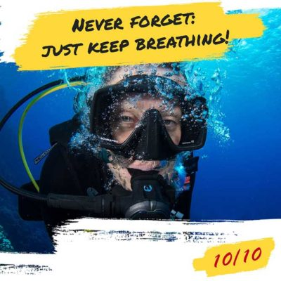 diver's decalogue. diving rules 10